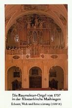 Die Baumeister-Orgel von 1737 in der Klosterkirche Maihingen