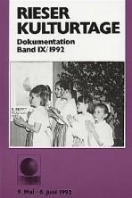 Dokumentationsband IX / 1992